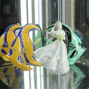 Sale 8304 - Lot 27 - Coalport The Romantic Ride Figure & 2 Angel Fish