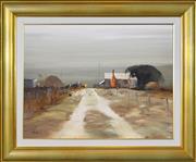 Sale 8316 - Lot 595 - Colin Parker (1941 - ) - Farm Track, Gundaroo, NSW 45.5 x 60cm