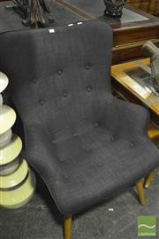 Sale 8341 - Lot 1011 - Grey Replica Grant Featherston Lounge Chair