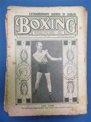 Sale 8419A - Lot 40 - Boxing 1911 - a box of Boxing Magazine (UK), 1911-1915