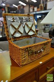 Sale 8507 - Lot 1041 - Cane Picnic Basket