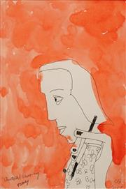Sale 8652 - Lot 542 - Charles Blackman (1928 - 2018) - Christabel Drawing Today, 2010 42 x 30cm