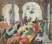 Sale 8781 - Lot 587 - Max Middelton (1922 - 2013) - Market Ross-On-Wye, England 24 x 29cm