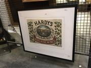 Sale 8824 - Lot 2050 - 150 aniversary Hardys Wine, frame size: 58 x 68cm