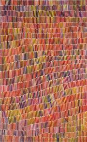 Sale 8904H - Lot 36 - JEANNIE MILLS PWERLE (1965 - ) - Bush Yam 157cm x 97cm
