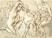 Sale 9021 - Lot 585 - Louis Kahan (1905-2002) - Dancers & Musicians, 1966 51 x 68.5 cm (frame: 68 x 86 x 3 cm)