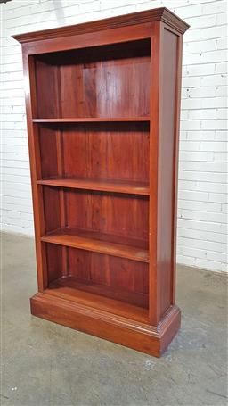 Sale 9157 - Lot 1030 - Timber open bookcase (h180 x w97 x d34cm)