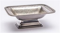 Sale 9170H - Lot 48 - A Hardy Brothers silverplated raised bowl with pierced gallery, Width 15.5cm