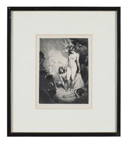 Sale 9245J - Lot 96 - Norman Lindsay - The Valley of Desire signed lower right