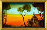 Sale 8325 - Lot 538 - Kevin Charles (Pro) Hart (1928 - 2006) - Untitled (Bush Camp) 16.5 x 27.5cm
