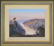 Sale 8339A - Lot 504 - Robert Wilson (1942 - ) - Evening Middle Harbour, Backwater 29 x 37cm