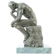 Sale 8356 - Lot 10 - Bronze Figure Thinker After Rodin