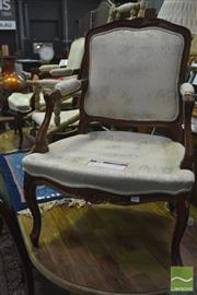 Sale 8347 - Lot 1046 - Pair of Moran Armchairs on Cabriole Legs (no cushions)