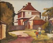 Sale 8633 - Lot 599 - Terence John Santry (1910 - 1990) - Suburban Scene 45.5 x 56cm