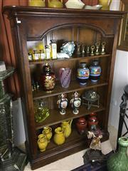 Sale 8730B - Lot 99 - C19th Oak Four Tier Bookshelf 180cm x 130 x 46