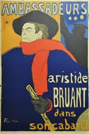 Sale 8764A - Lot 5055 - After. Henri de Toulouse-Lautrec (1864-1901) - Ambassadeurs; Ariste Bruant dans son Cabaret 91 x 60.5cm