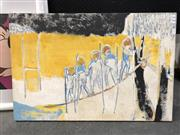 Sale 8784 - Lot 2077 - Gloria Budgeon - Untitled, mixed media on canvas laid on board, size: 61 x 92cm, signed lower right