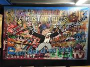 Sale 8797 - Lot 2009 - Paul Franklin - Who Me? A Bandit, Mixed Media on Canvas (160 x 100cm) COA in office