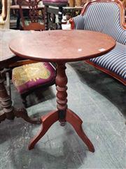 Sale 8925 - Lot 1018 - A cedar tripod lamp table with circular top
