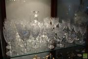 Sale 8288 - Lot 81 - Tudor Cut Crystal Stem Wares with Webb Stem Wares