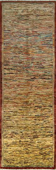 Sale 8338C - Lot 81 - Afghan Chobi Stripi 230cm x 75cm