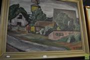 Sale 8464 - Lot 2045 - Artist Unknown (XX) - Untitled (A Street in Oregon) 54.5 x 74.5cm