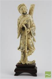 Sale 8490 - Lot 193 - Ivory Figure of A Chinese Elder