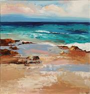 Sale 8675 - Lot 532 - Cheryl Cusick - Beach Front 120 x 120cm