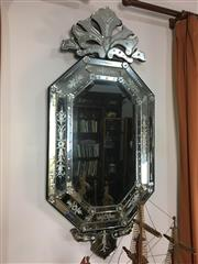 Sale 8730B - Lot 100 - Large Venetian Mirror with Etched Glass (some losses) 137cm x 61