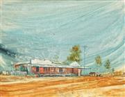 Sale 8779 - Lot 2039 - Bruce Malloch (1936 - ) - Murphys Merchandise Store, 1972 45.5 x 58cm