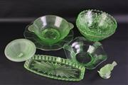 Sale 8823 - Lot 6 - Collection of Green Depression Glasswares