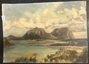 Sale 9011 - Lot 2048 - C. Swancott The Undisturbed Inlet 1961 oil on canvas on board (unframed) 34.5 x 48 cm (frame) -