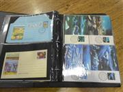 Sale 7943A - Lot 1605 - Black Binder of Aerogrammes & Maxi Cards