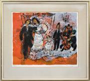 Sale 8309A - Lot 73 - Theo Tobiasse (1927 - 2012) - Unique est ma colombe 47 x 57cm