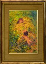 Sale 8325 - Lot 560 - David Boyd (1924 - 2011) - Angel and Figure, 1975 45.5 x 30cm