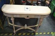 Sale 8386 - Lot 1051 - Playing Card Themed Hall Table