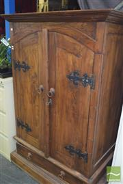 Sale 8390 - Lot 1254 - Timber Entertainment Cabinet