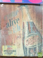 Sale 8421 - Lot 1073A - Vintage Pepsi Tin Sign