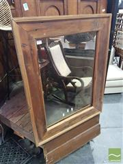 Sale 8554 - Lot 1071 - Timber Framed Mirror