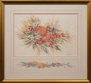 Sale 8663 - Lot 2145 - Gloria Muddle (2 Works) - Native Wildflowers in Spring 36 x 58cm