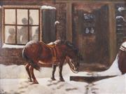 Sale 8764A - Lot 5066 - Artist Unknown - Winter Scene, c1880 20 x 25cm