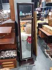 Sale 8826 - Lot 1051 - Modern Chrome Framed Swivel Dressing Mirror