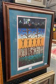 Sale 9011 - Lot 2051 - Samantha Wortelhock Balance decorative print 46 x 38cm (frame)