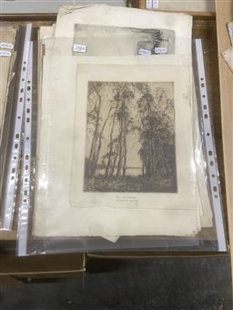 Sale 9111 - Lot 2084 - A Good selection of various etchings by Squire Morgan, (multiple condition issues), -