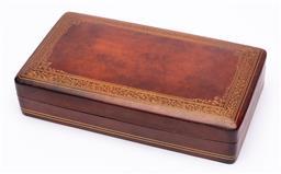 Sale 9170H - Lot 70 - An A.Anotinori Roma marked leather bound lift top box, Width 12cm