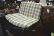 Sale 8341 - Lot 1097 - Green Tartan Swivel Chair