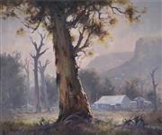 Sale 8722 - Lot 593 - Robert Wilson (1942 - ) - Beneath the Bluffs, Capertee Valley 48.5 x 59cm