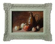 Sale 8828A - Lot 21 - Nature Morte  attrib. to  Alexis Delahogue 1867- 1930 oil on board 23 x 33 cm