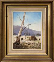 Sale 8958 - Lot 2063A - Fay Joseph Dry Season in Gundagai 1978 oil on canvas board, 43 x 35cm (frame), signed