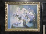 Sale 9050 - Lot 2020 - Gwen Pratt, White Azelias, oil on canvas on board, 49.5 x 59.5 cm, signed lower left